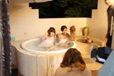 露天風呂入浴シーン